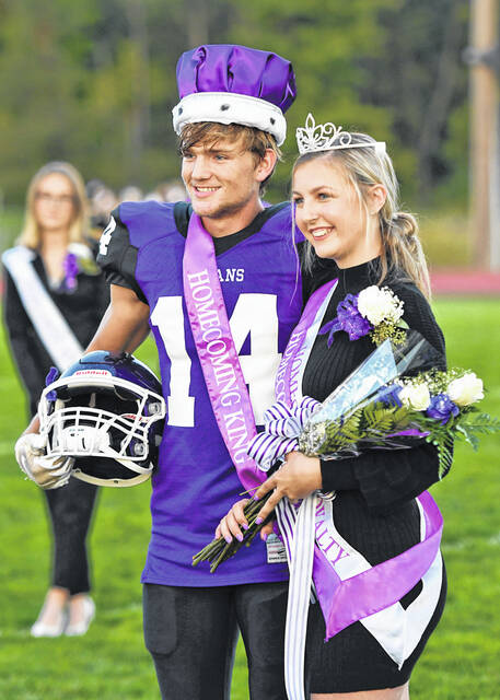 Paul Butterman and Taylor Hashman were chosen Mount Gilead Homecoming king and queen prior to the game.