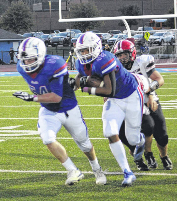Highland running back Dane Nauman had another huge game for his team in Friday night's win over Cardington. The sophomore tallied 265 yards and three touchdowns — all on runs of over 50 yards.