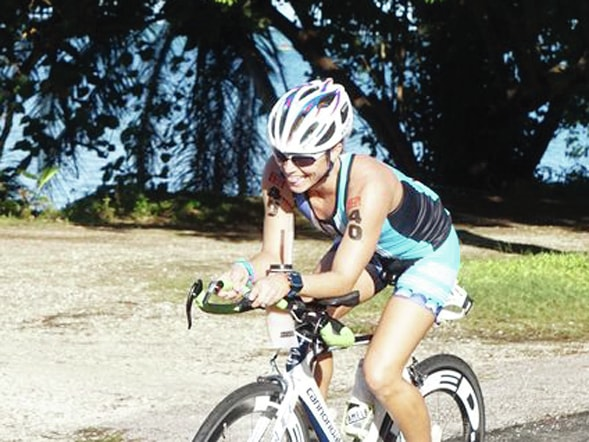Photo Courtesy of Pacific Daily News Piqua native Lynn Mattix recently won the Guam Triathlon