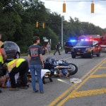 Motorcyclist injured in crash