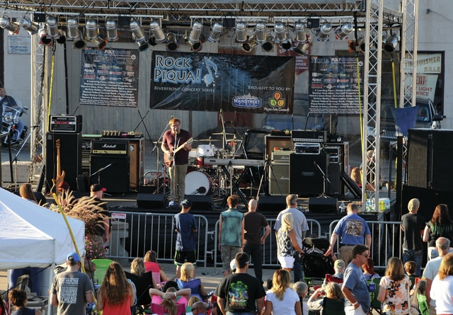 Mike Ullery | Daily Call You vs. Yesterday performs during Saturday's 2015 finale Rock Piqua concert at Lock 9 Park.