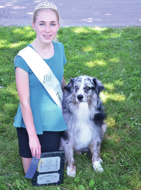 Jamie Banning for Civitas Media Kate Bowser, 14, of Tipp City won 1st place Showmanship and Grad Novice B dog. Bowser is a member of Monroe Muttley's 4H Club.