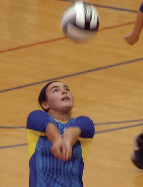 Mike Ullery | Daily Call Lehman's Madeline Smith, 2, sets the ball.