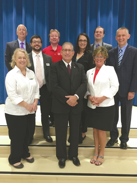 Provided photo Pictured are representatives from some of the Miami County Foundation Business Partners. First row, Barb Lurie, Wayde Davis, and Kathy Sherman. Second row, Ben Redick and Lisa Feeser. Third row, Andy Pratt, Tim Wirth, and Derrick Petry.
