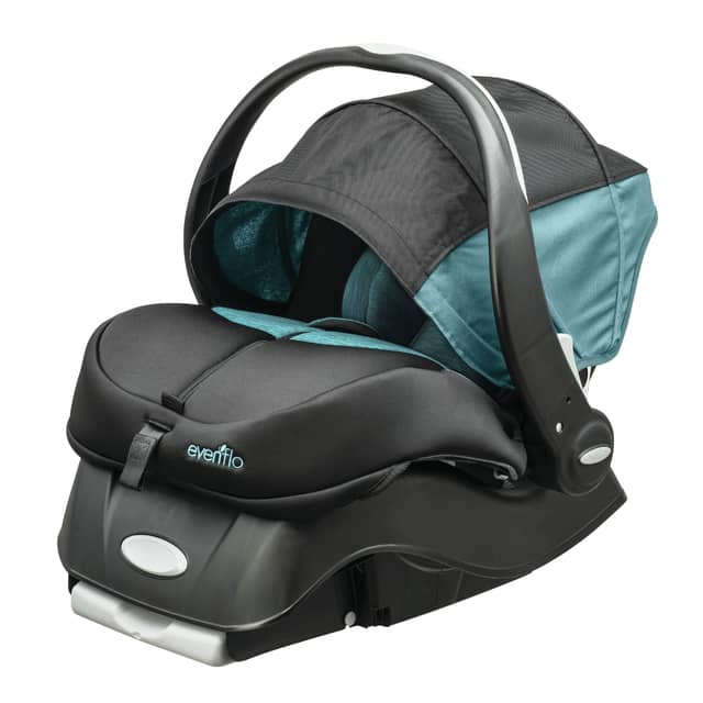 Photo by Biel Photographic Miamisburg-based Evenflo has invented a child seat that sets off an alarm when the vehicle stops to help prevent people from leaving a child in a hot automobile. The car seat will be available at Walmart in mid-August.