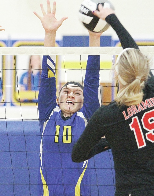 Civitas File Photo Rachel Heuing returns for the Russia volleyball team.
