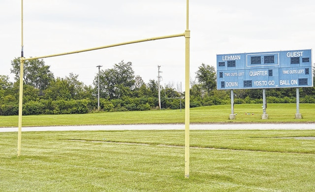 The scoreboard at the football field behind Lehman will light up on Oct. 9, when the school plays its Homecoming football game at the field. It will be the first night game at the school in the history of the football program.