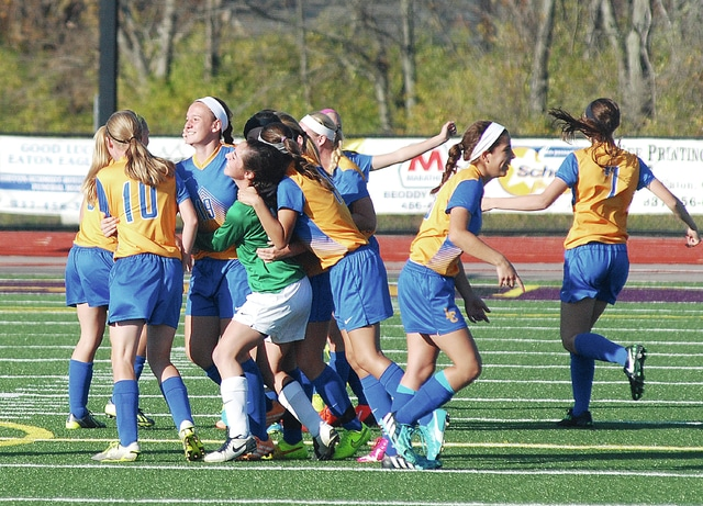 Rob Kiser/Call File Photo Lehman girls soccer hopes for more big moments to celebrate beginning Friday, when they travel to Cincinnati Madeira for the season opener.