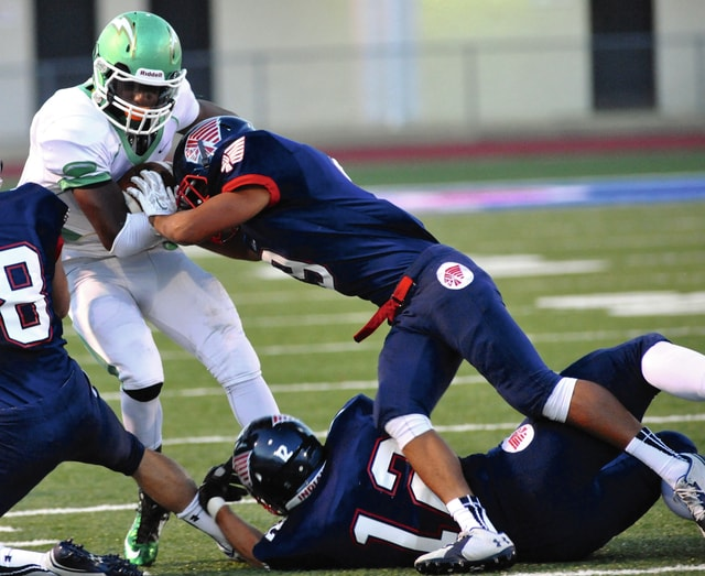 Piqua's Andrew Lee (9) makes a tackle against Northmont last year.