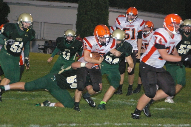 Kyle Shaner/Civitas Media Bradford's Bryson Canan finds some running room Friday night.