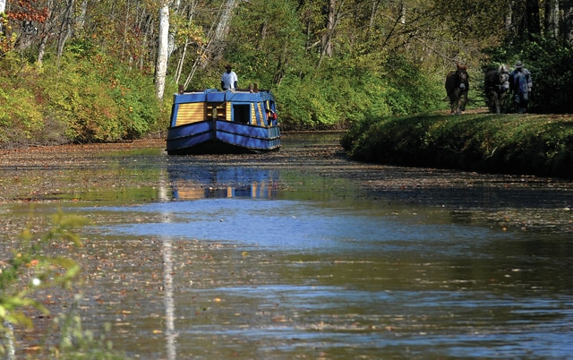 Mike Ullery | Daily Call Visitors can enjoy a canal boat ride aboard the General Harrison on Saturday at the Johnston Farm & Indian Agency's daylong Fall Celebration. Admission to the event is free.