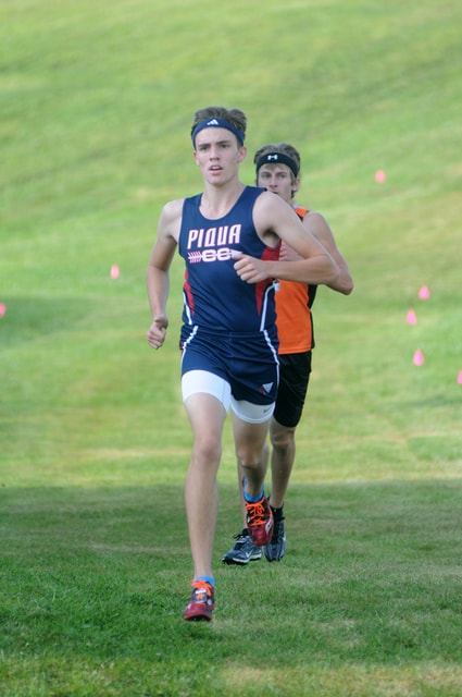Ben Robinson/GoBuccs.com Piqua's Andy Mayse took first in the boys race Saturday at the Covington Eagles Invitational.