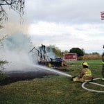 Crews battle structure fire