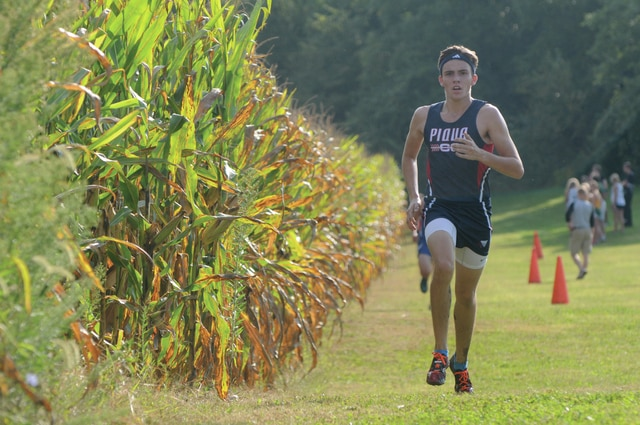 Ben Robinson/GoBuccs.com Piqua's Andy Mayse and the rest of the local cross country runners will compete at the district meet today at Miami Valley Career Tech Center.