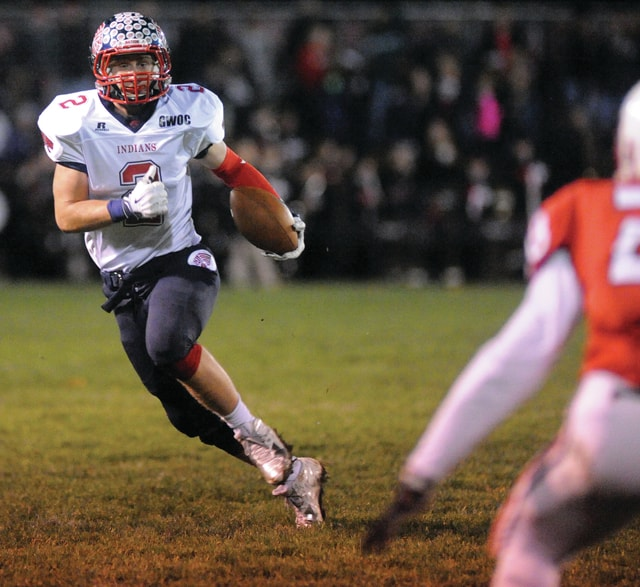 Mike Ullery | Daily Call Colton Bachman, 2, looks for room to run.