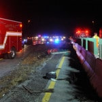 Interstate roll-over causes injuries