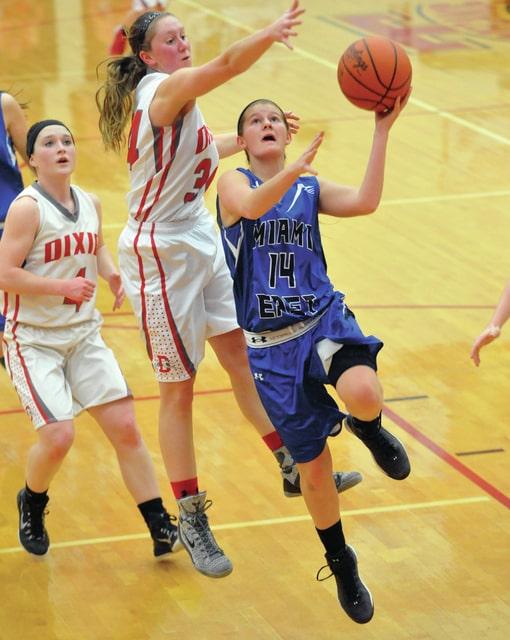 Call File Photo Bailey Miller drives to the basket during a game last season.