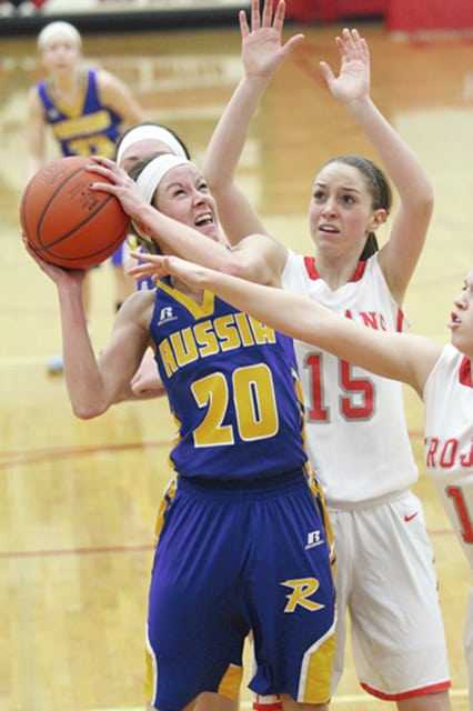 Call File Photo Tiffany Hatcher is back for the Russia girls basketball team.