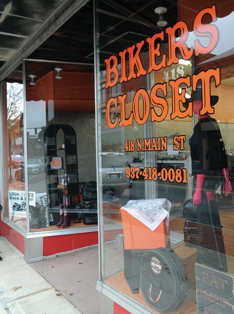 Mike Ullery | Daily Call Piqua's Biker's Closet store can now be found in the 400 block of North Main Street.