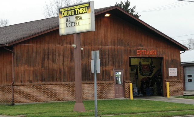 Mike Ullery | Daily Call The Spring Thru Drive Thru fell victim to an armed robber on Wednesday.