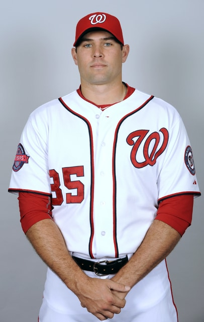 VIERA, FL - MARCH 1:  Craig Stammen #35 of the Washington Nationals poses during Photo Day on Sunday, March 1, 2015 at Space Coast Stadium in Viera, Florida.  (Photo by Tony Firriolo/MLB Photos via Getty Images) *** Local Caption *** Craig Stammen