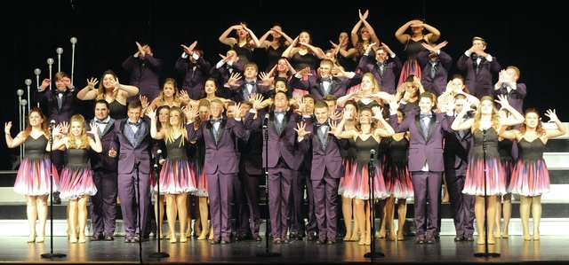 Mike Ullery | Daily Call Piqua's Show Choir, The Company, performs during the annual Piqua Show Choir Invitational at the high school on Saturday.