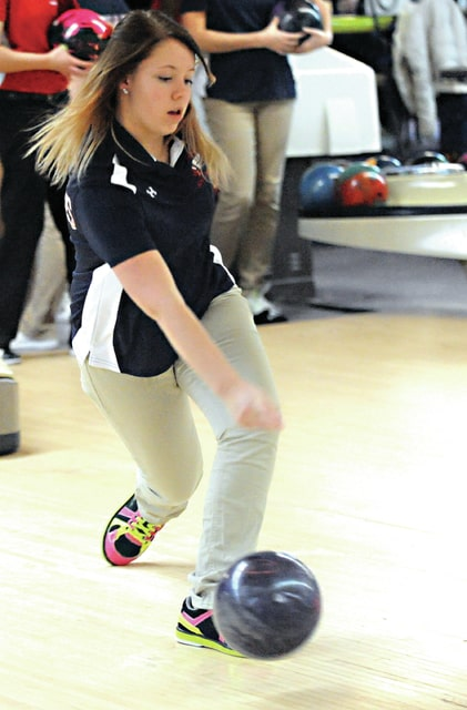 Mike Ullery | Daily Call Kyra Buchanan shows good form prior to Piqua's match against Troy at Brel-Aire Lanes on Tuesday.