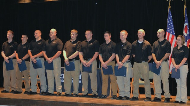 Provided photo Edison's 31st Police Officer Academy students are honored during a ceremony on Dec. 30.