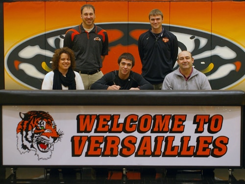 Versailles senior Corey Dieringer signed his letter of intent Wednesday morning to play college football for Wittenberg University.