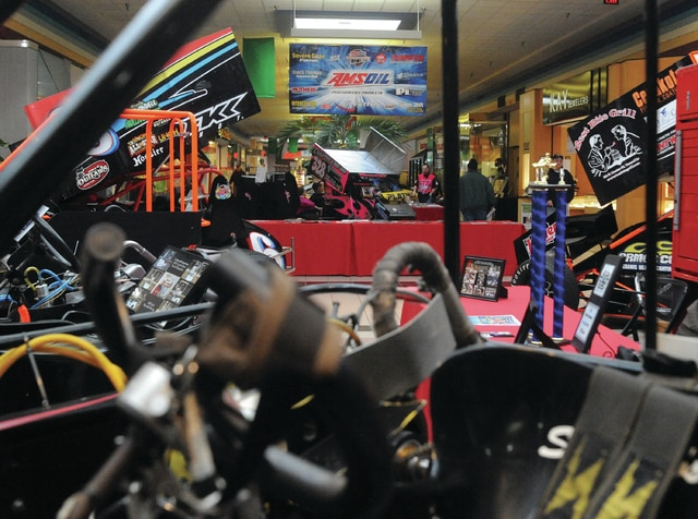 Mike Ullery | Daily Call The Miami Valley Centre Mall is filled with Race Cars & Future Stars this weekend. Mall manager Peggy Henthorne said that they have a record 85 cars on display, from four states. In addition to the race cars, the annual Pinewood Derby will be held on Saturday and Polly Mae, from Lima, will be performing on Sunday.