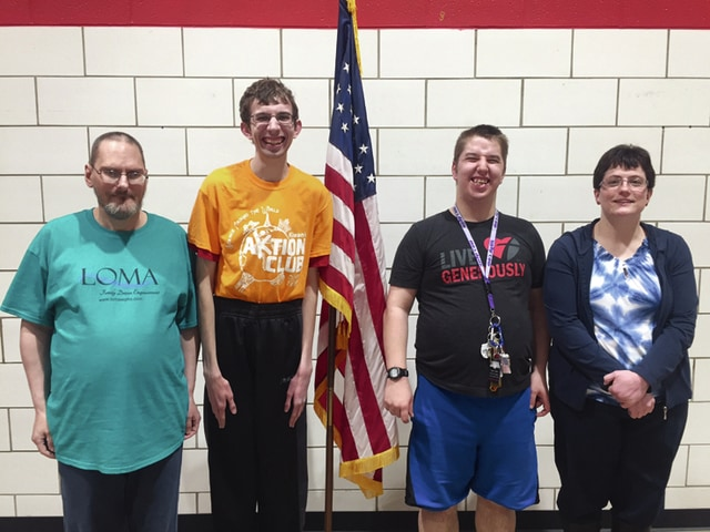 Provided photo Kiwanis Aktion Club officers include, from left, treasurer Marion Cotterman (Casstown), president Adam Priest (Troy), vice president Jason Benton (Troy), and secretary Paula Baker (Troy).