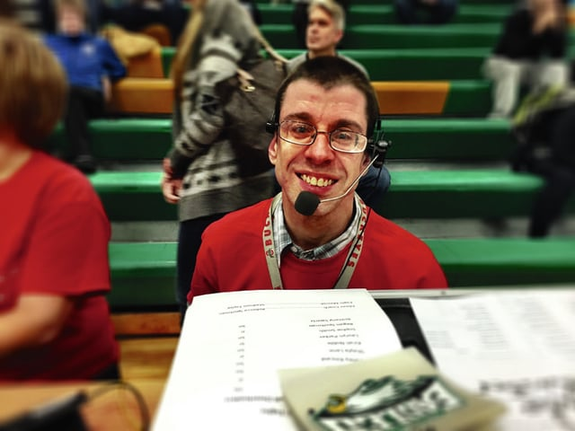 Provided photo Jason McCabe has recently lent his talents at Special Olympics basketball and soccer games, dances held at Riverside, and served as the voice of Riverside for radio commercials during the agency's successful renewal levy last fall.