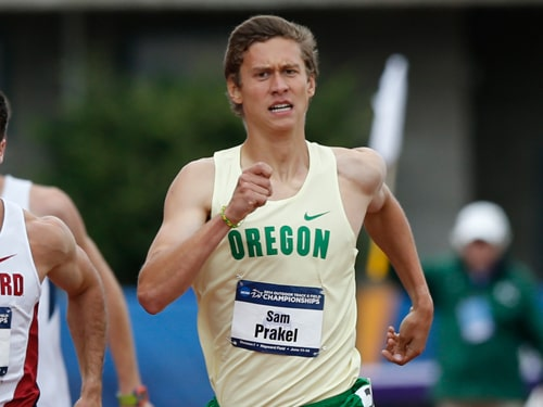 Versailles graduate Sam Prakel finished fourth in the mile at the at the NCAA Indoor Track and Field Championships.