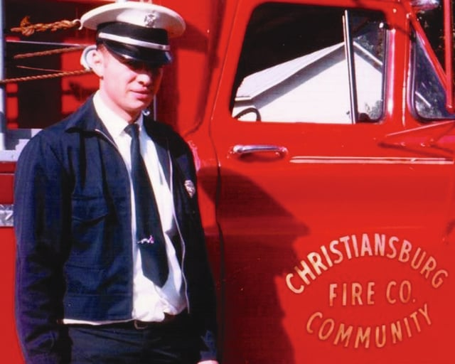 Christiansburg Fire Capt. Harold Zerkle is pictured in 1970. Zerkle started with the Christiansburg Fire Company in 1965 and retired this year after 50 years of service.