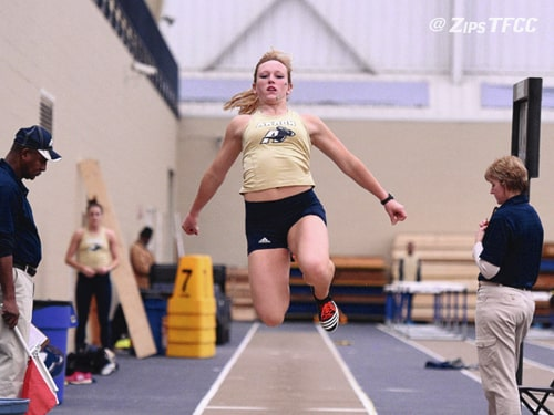 Photo Provided Former Covington state champion and University of Akron sophomore Jackie Siefring recently finished 10th at the NCAA Indoor Nationals in the heptathlon.