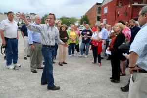 The Piqua Area Chamber of Commerce hosted walking tours of the Downtown Riverfront Revitilzation project sites on April 26, 2016.