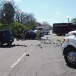 Two injured in 25A crash