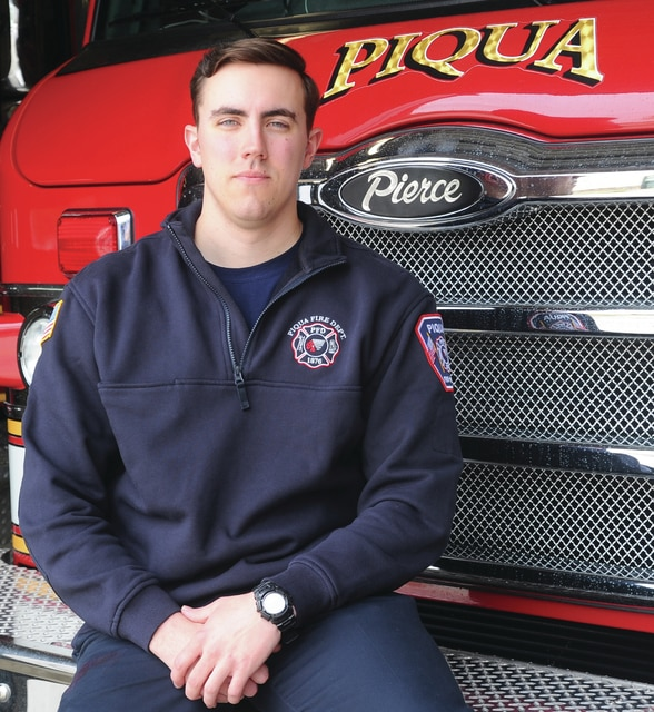 Mike Ullery | Daily Call Piqua's newest firefighter, Scott Burrows, comes to Piqua with several years of experience already under his belt.