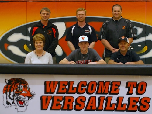 Versailles senior Brett McEldowney committed to play baseball for the University of Northwestern Ohio on Wednesday afternoon.