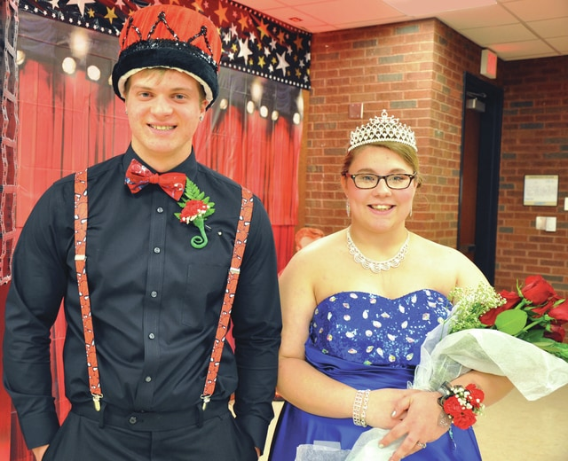 Provided photo Daryon Booker and Emily Campbell were crowned King and Queen of the Upper Valley Career Center Spring Dance on April 9. Booker is a senior FCCLA student from Bradford attending the Culinary Arts program at Upper Valley. Campbell is a senior in the Medical Technologies program and SkillsUSA. She is from Piqua High School.