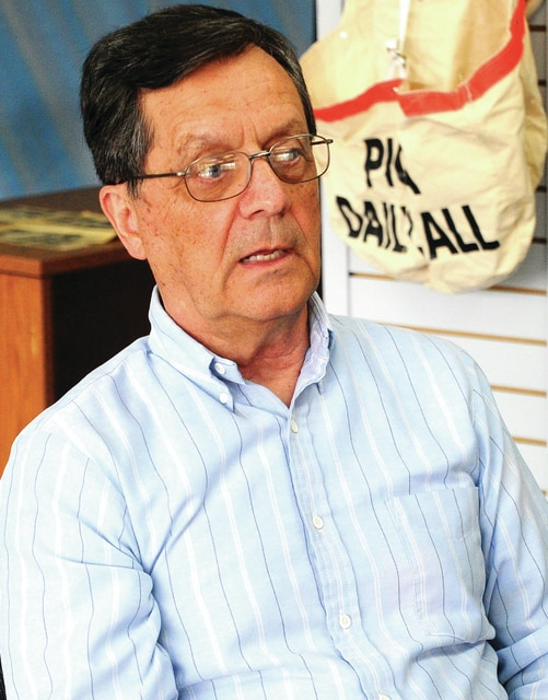 Mike Ullery   Daily Call Author Wallace White chats about his latest book during a recent visit to the <em>Piqua Daily Call</em> offices.
