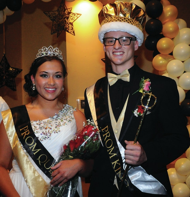 Mike Ullery | Daily Call Queen Claire Hilleary and King Darby Wright were crowned as 2016 Piqua High School Prom royalty during ceremonies at A Learning Place on Saturday.