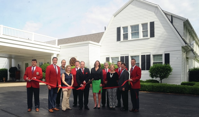 Mike Ullery | Daily Call A ribbon-cutting was held and the Piqua Country Club on Thursday, officially welcoming the re-opened business back to the Piqua Area Chamber of Commerce. The event was attended by Piqua Chamber representatives, Club officials, and Mayor Kazy Hinds.