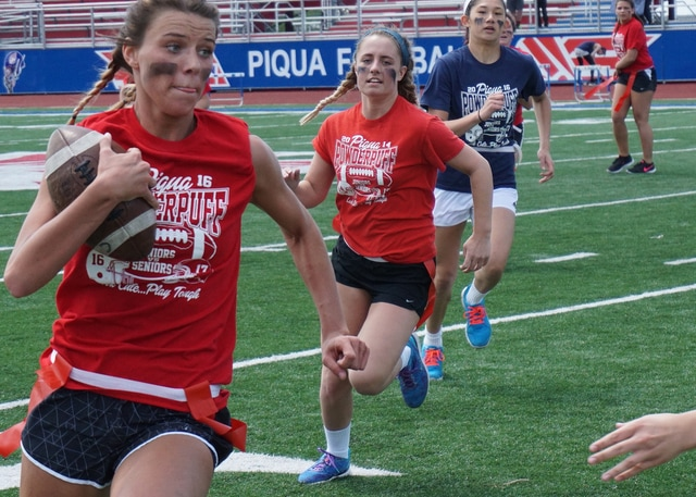 Piqua High School's annual Powder Puff Football game was played at Alexander Stadium/Purk Field on Friday. (All photos contributed by Kyla Starrett | PHS)
