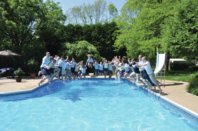Provided photo The Lehman Catholic High School Class of 2016 recently took their final plunge. The annual event takes place upon the end of the final day of courses. Lynne and Stephen Springer hosted the senior class to make their final class splash. Seniors will reconvene on Friday, May 27, for their awards program and Baccalaureate Mass. Commencement exercises will be held Sunday, May 29, at Lehman Catholic High School.