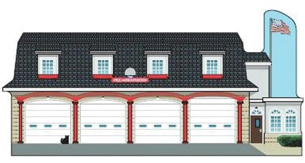 Provided photo The Piqua Fire Department building located on Water Streetis now available as a Catճ Meow collectible from Mainstreet Piqua.