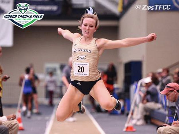 Photo Provided Jackie Siefring earned Female MVP honors at the Mid-American Conference meet recently.