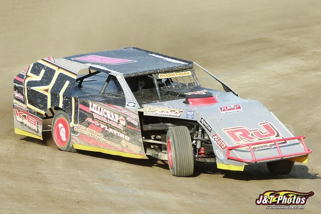 Photo Provided by J&T Photos Piqua driver Josh Morton had a busy weekend of racing.