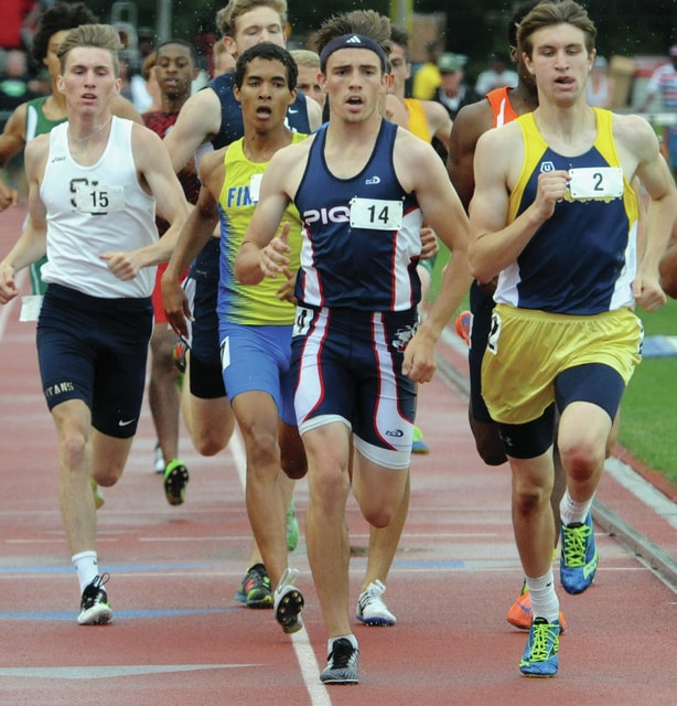 Mike Ullery | Daily Call Andy Mayse of Piqua runs the 800 meter finals at Jesse Owens Stadium in Columbus during boys Division I state track on Saturday.