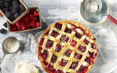 Berry Pie And Ingredients